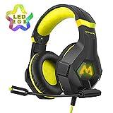 Mpow EG9 Gaming Headset PS4 RGB LED Surround-Sound Kopfhörer mit Mikrofon Geräuschunterdrückung,...