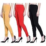 ERRISH Cotton Lycra V-Cut Leggings For Womens | Cotton Lycra Churidar For Ladies | Ankle Length Leggings for Girl's | Free-Si