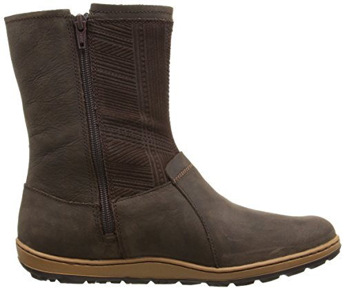 Merrell Ashland Vee Mid Waterproof Black Womens Boot Seal Brown