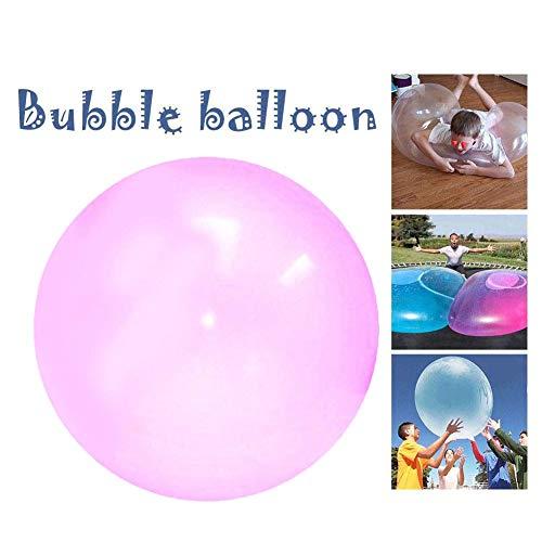ubble Ball Wasserball Inflatable Beach Ball Aufblasbarer Blasen-Wasser-gefüllter Wasserball-weicher Gummiball für Sommer Pool Party Supplies, Spielzeug Für Kinder Erwachsene, Rot ()