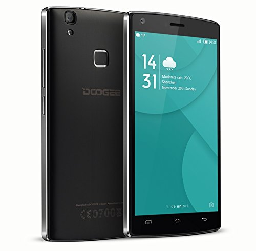 DOOGEE MAX PRO X5, 4G Smartphone 8.0MP 4000 mAh Battery, + 8MP Camera, Fingerprint Smartphone 6.0 Inch LCD HD, Android, Smart phone, Dual SIM, 5 debloqué, Unlocked Mobile Phone Any Operator