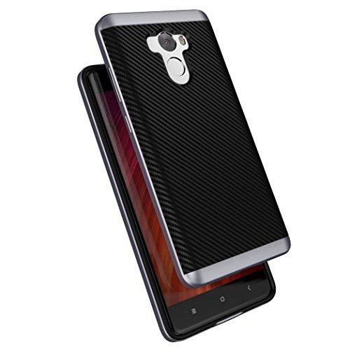 Xiaomi Redmi 4 Funda , ivencase Prima Híbrido Anti-rasguños Marco Bumper Carcasa...