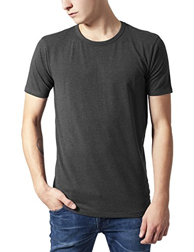 Urban Classics Herren T-Shirt Fitted Stretch Tee, Grau (Charcoal 91), X-Large - Grau Classic-shirt