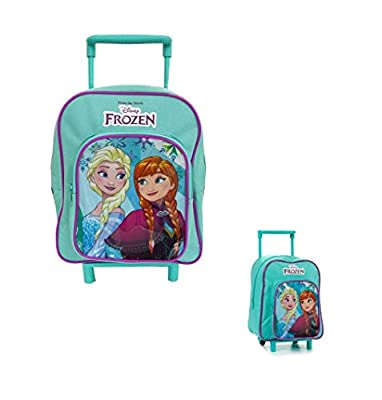 Takestop® Mochila Trolley Frozen Anna Elsa Disney Escuela guardería mañana para niños niñas niña