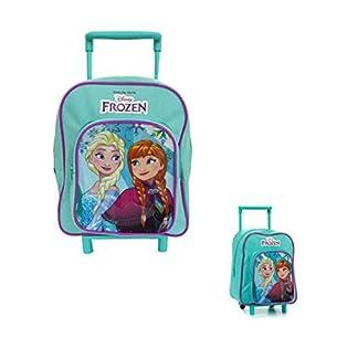 Takestop® Mochila Trolley Frozen Anna Elsa Disney Escuela guardería mañana para niños niñas niña Turquesa Verde Agua Piccolo (23x29x15cm)