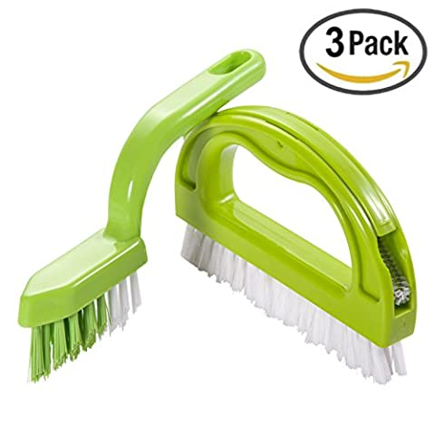 Kitchen & Bathroom Cleaning Brush scrubber brush Joint Brush, Foresight C-Series 3 in 1 Super Value Pack Multifunction Brush Grout Brush Ergonomic Design Excellent For Separately use in the Bathroom & Kitchen.( 3 Brushes Included )