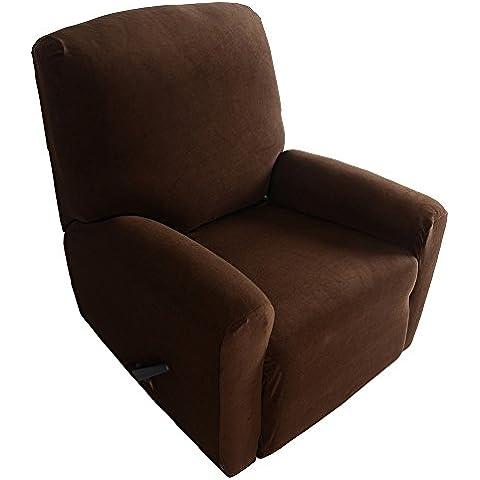 Anself Conjunto de Funda de sillón reclinable elástico de alta calidad suave de poliéster spandex de una