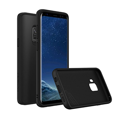 Rhino Shield Premium Case für Samsung S9 [SolidSuit]   Schock Absorbierende Schutzhülle mit Premium Matt Finish [3,5 Meter Fallschutz] - Klassik Schwarz