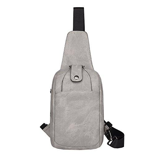 LAIDAYE Schulterbeutel Kuriertaschen Sporttaschen Outdoor-Freizeit-Rucksack Business-Paket Schultertasche Tasche Brust 5