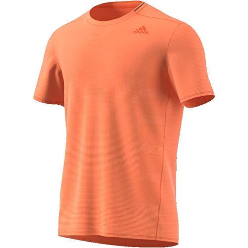 Adidas Climalite Short Sleeve Tee (adidas Herren Supernova Short Sleeve Tee T-Shirt, hi-Res orange s18, L)