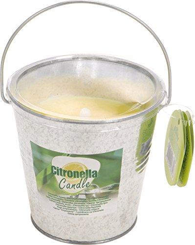 Homes on Trend Citronella Candle 07936- Vela de citronela con Cubo de Acero Color Plateado, 10x 10cm