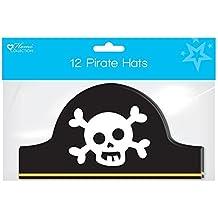 Pack de 12 niños de cartón Fiesta de cumpleaños sombreros – de pirata Calavera de
