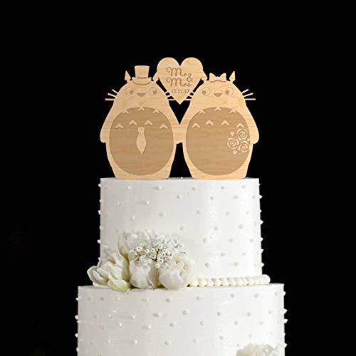 Tortenaufsatz für Hochzeit Totoro Totoro Totoro My Neighbor Totoro Topper My Neighbor Totoro Lustige Braut und Bräutigam Hochzeit Cake Topper Geschenke