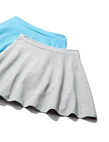 RED WAGON Mädchen Rock im 2er-Pack, Mehrfarbig (Grey/Light Blue), 146 (Herstellergröße: 11 Jahre) (2-pack Kleider Mädchen)