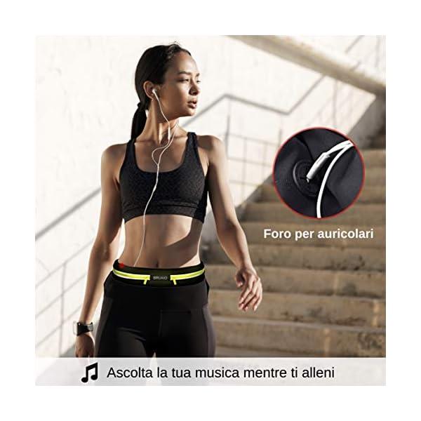 BRUXIO Marsupio Running Uomo Donna New Edition Cintura Sportiva Borraccia Removibile Porta Cellulare Impermeabile… 3 spesavip