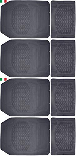 Cenni 26292 2 Lots de Tapis Auto en Caoutchouc, Universels et Découpables, Made in Italy