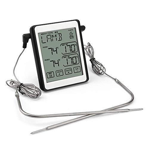 Hailiang Digital del termómetro de Carne for Asar, Alimentos líquidos Termómetro sonda...