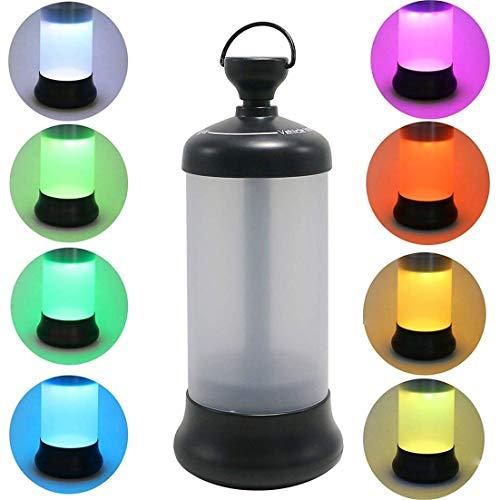 HEQUN Lámpara LED Portátil, Luz Recargable, Portátil LED Linterna Camping Iluminación LED Luces de la Noche al Aire Libre o de Interior con la Batería Recargable para la Excursión Acampa (Negro)