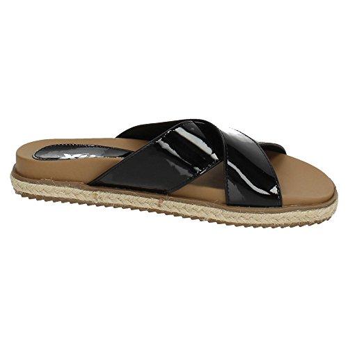 XTI , sandales femme Noir