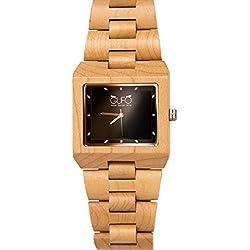 Holz Eule Uhr Schwarz Stein Italien