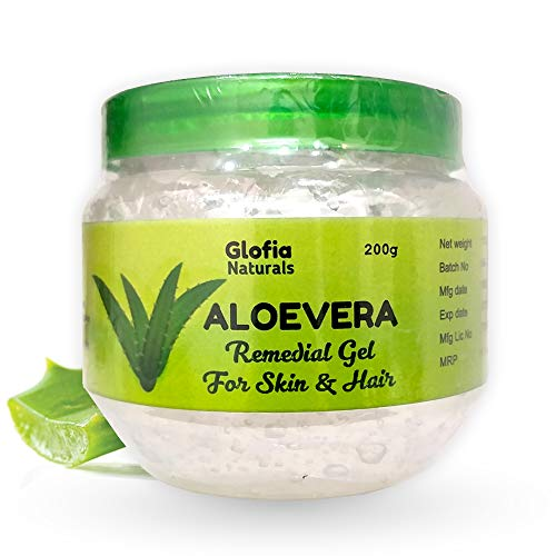 Glofia Naturals Aloevera Gel for Skin & Hair Pure Transparent 200g