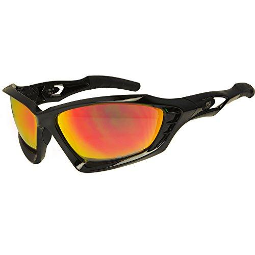 Daisan Elite fire verspiegelte Sportbrille Sonnenbrille
