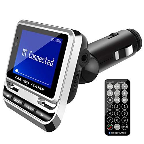 Prevently Bluetooth FM Transmitter, Auto Radio Bluetooth Adapter Freisprecheinrichtung mit FM12B 1,4-Zoll-Bildschirm-Display USB Lade Wireless FM Hands-Free-Fahrzeug MP3