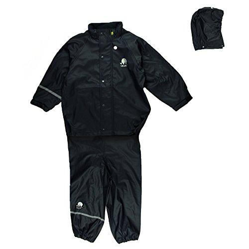 Celavi Kinder Unisex Regen Anzug, Jacke und Hose, Alter 11-12 Jahre, Größe: 150, Farbe: Dunkelblau, 1145