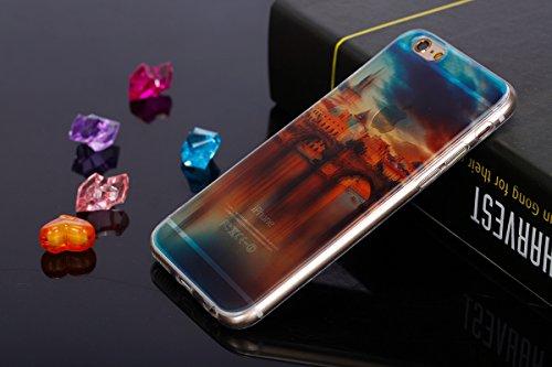 Felfy pour iPhone 6 Plus Silicone Case,iPhone 6S Plus Coque Coque Souple Transparente TPU Silicone en Gel Case Premium Ultra-Light Ultra-Mince Skin de Protection Pare-Chocs Anti-Choc Bumper pour Apple Vieux Pont