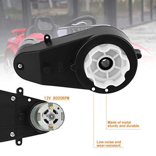Elektromotor Getriebe,Jectse 6V / 12V 8000-23000Rpm robuster und langlebiger Metall Elektrisches Moto Getriebe Antriebs Motor für Kinderautos(12V8000R)