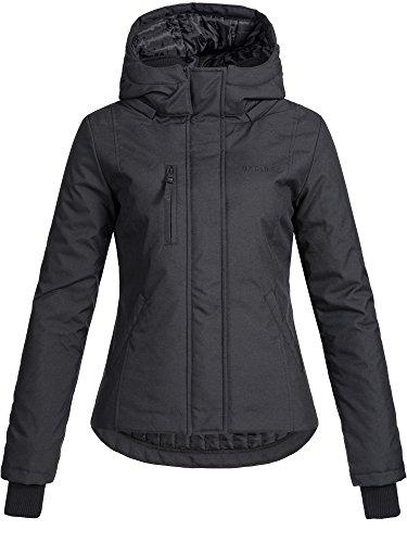 DESIRES Damen Bisse Winterjacke mit Kapuze 13 Farben XS-XL 9000 Black XS