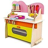 jerryvon Holzspielzeug Küche Kaufmannsladen Zubehör Kinderküchen Ausgestattet Rollenspiel Kinder...