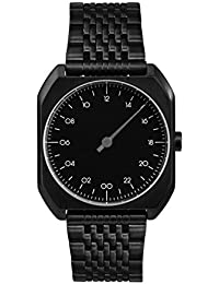 Slow Mo 03 Montre bracelet Mixte, Acier inoxydable plaqué, couleur: Noir