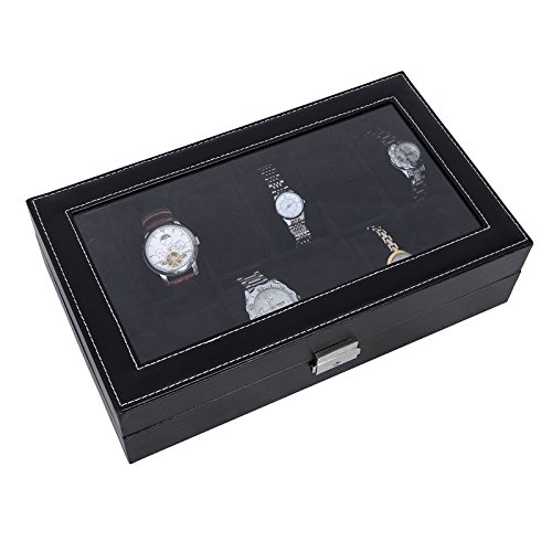 Songmics-Watch-Storage-Display-Box-Case-For-12-Watches-JWB12B