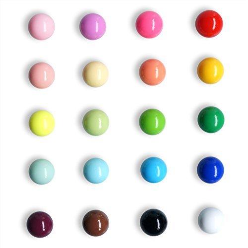 Kugelförmige, mehrfarbige Kühlschrankmagnete für Haus und Büro. Magnete geeignet für Kalender, Whiteboards, Karten. Aus Harz. Lustige Dekorationen. 20er-Pack von VNthings