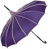 Tinksky Vintage Parasol Umbrella Sunshade Stick Umbrella Hook Handle Photo Props