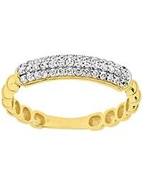 Citerna - Anillo de eternidad para mujer de oro amarillo 9 k (375)