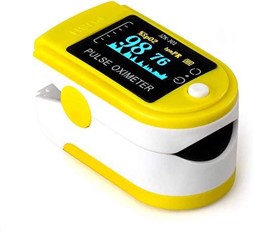 Nfudishpu OLED Finger Sauerstoffsättigung Monitor-Analysator Fingerspitze Haushalt Fingeroximeter können Blutsauerstoffsättigung, Herzfrequenz erfassen und so weiter, Blau