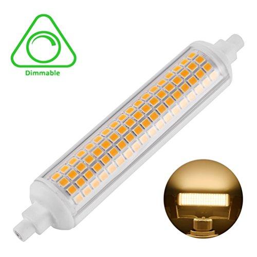 LEDGLE R7S LED 118mm Bombilla regulable 10W, 100W Bombilla halógena equivalente, 950-1015LM, AC 220V-240V, Blanco cálido 2800-3100K
