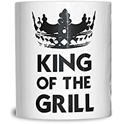 Tim And Ted Grill 11Oz Keramik Tasse Becher King Of The Grill Logo Slogan Entwurf druckte Dad Cooking