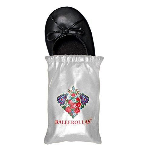 Ballerinas Faltbare (BALLEROLLAS Faltbare Ballerinas Afterparty Schuhe - Wechselschuhe, Kunstleder, Schwarz Gr. 36)