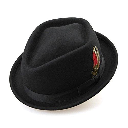 Peng-Hat 100% Australien Wolle Wide Fedoras Winter