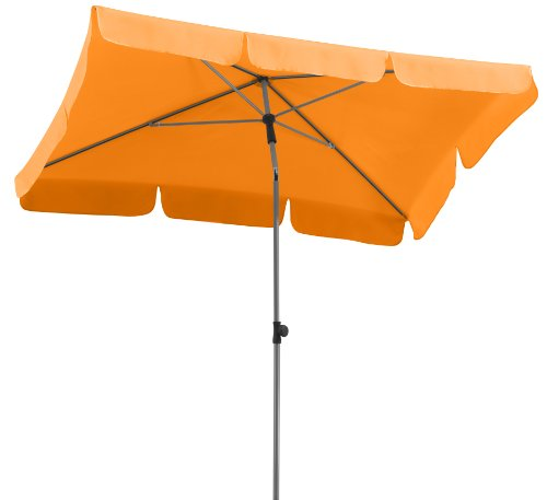 Schneider Sonnenschirm Locarno, mandarine, 180x120 cm rechteckig, Gestell Stahl, Bespannung...