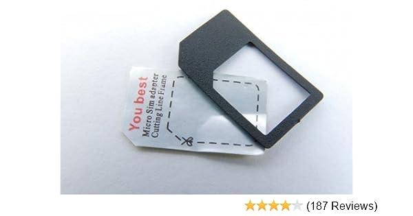 Iphone 4 Sim Karte Einlegen.Microsim Adapter Mit Eingebauter Halterung Sicheres Einlegen Ohne Klebefixierung Farbe Schwarz Für Iphone 4 Ipad Micro Sim Karten Zur Verwendung