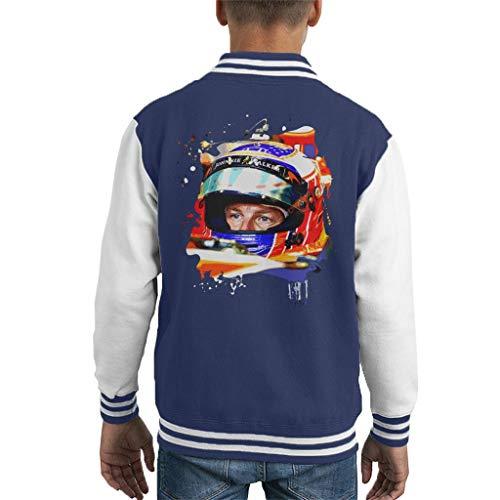 Motorsport Images Jenson Button McLaren MCL32 Monaco Helmet Shot Kid's Varsity Jacket -
