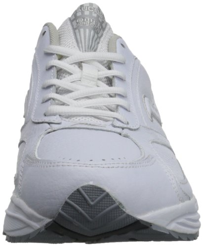 Saucony Men's Grid Omni Walking Shoe,White/Silver,10 M White/Silver