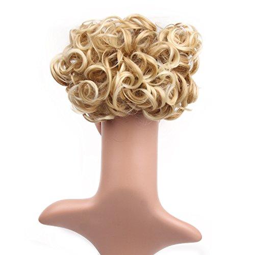 Fouriding extension capelli con clip effetto biondo ricciolo