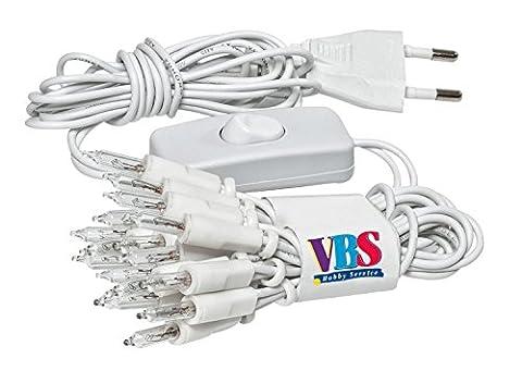 VBS Mini-Lichterketten mit Schalter, weiß 20er,