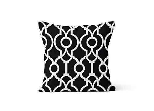 Schlafzimmer-set Lyon (FloradeSweet Black Scrollwork Pillow Cover Lattice Lyon Black 18 x 18 inch 45 x 45cm)