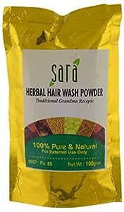 Sara Herbal Hair Wash Powder, 100 gm